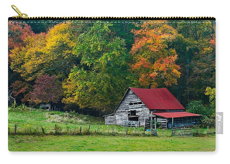 Appalachia Carry-all Pouch featuring the photograph Candy Mountain by Debra and Dave Vanderlaan