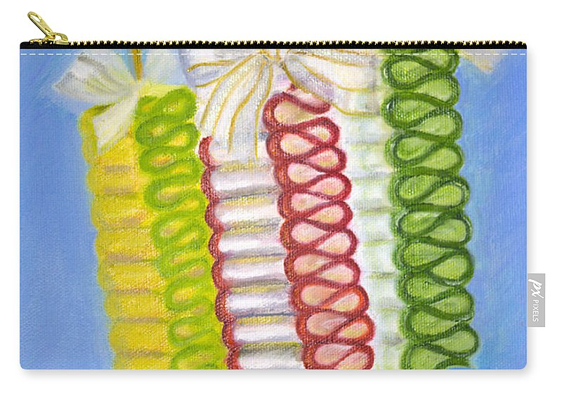 Iris Holzer Richardson Carry-all Pouch featuring the painting Candy Ribbon by Iris Richardson