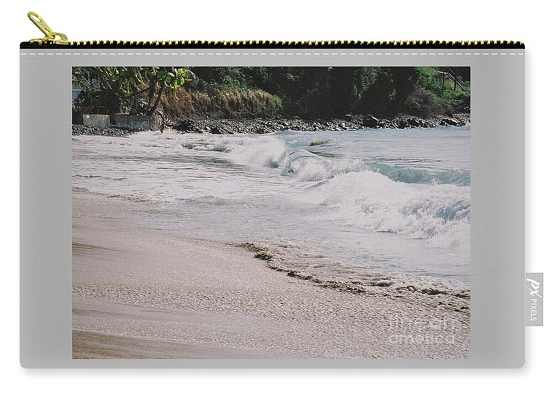 Tortola Cane Bay Waves Crashing Shoreline Movement Natural Beauty Tropical Foliage Rocky Shore Serenity Escape From Stress Canvas Print Metal Frame Poster Print Available On Greeting Cards Shower Invitation Cards Tote Bags Throw Pillows Shower Curtains Pouches Weekender Tote Bags Phone Cases And Now Coffee Mugs Carry-all Pouch featuring the photograph Cane Bay, Tortola # 3 by Marcus Dagan
