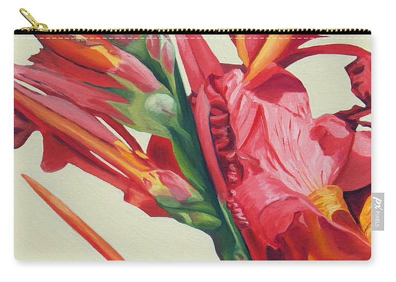 Canna Lily Carry-all Pouch featuring the painting Canna Lily by Annette M Stevenson