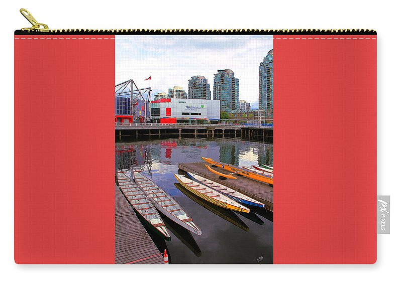 Nautical Carry-all Pouch featuring the photograph Canoe Club And Telus World Of Science In Vancouver by Ben and Raisa Gertsberg
