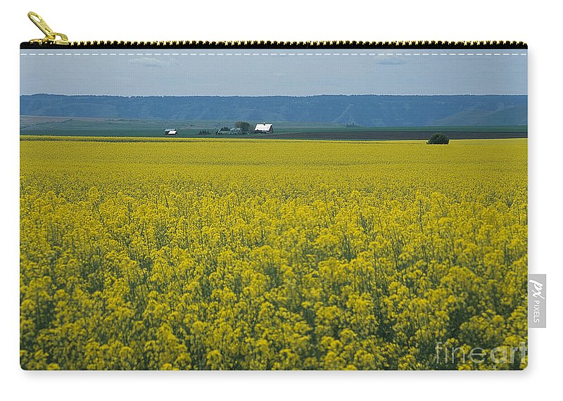 Canola Carry-all Pouch featuring the photograph Canola Fields Forever by Sharon Elliott