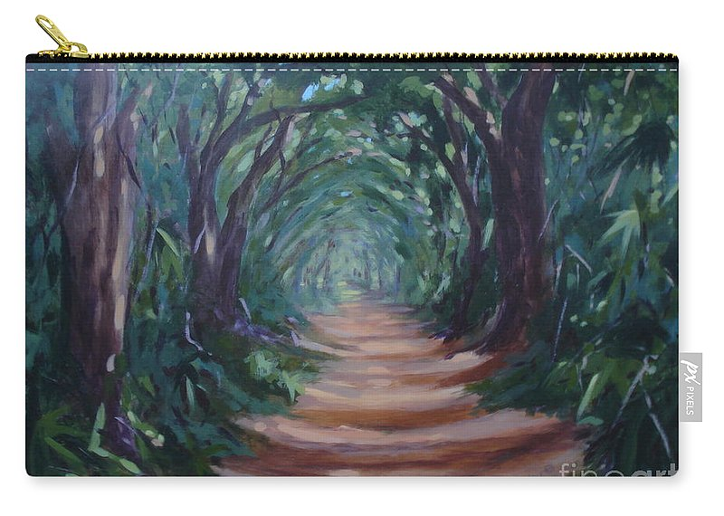 Tree Canopy Carry-all Pouch featuring the painting Canopyroad by Rebecca Hendrix