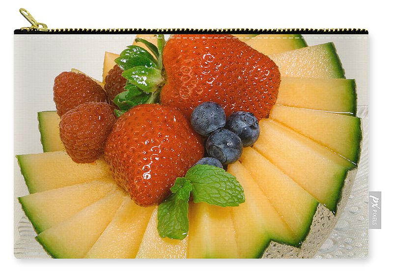 Iris Holzer Richardson Carry-all Pouch featuring the photograph Cantaloupe Breakfast by Iris Richardson