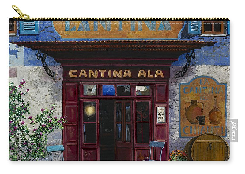 Cantina Carry-all Pouch featuring the painting cantina Ala by Guido Borelli