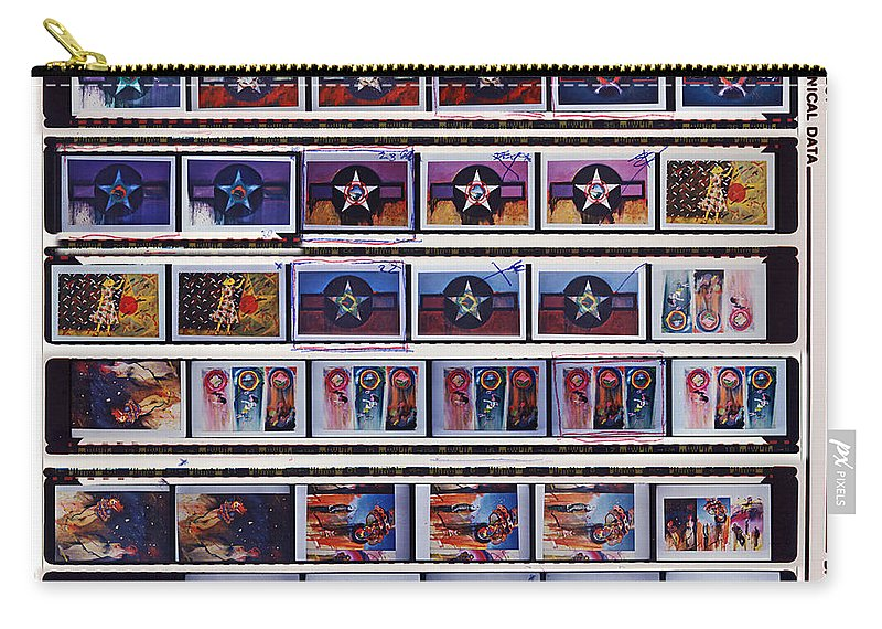 Oil Paintings On Canvas Carry-all Pouch featuring the painting Canvas Contact Strip by Charles Stuart