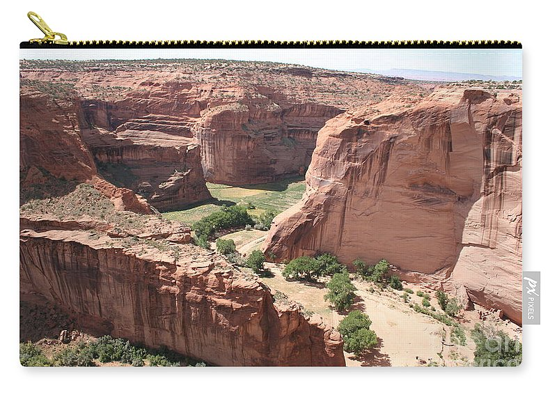 Canyon Carry-all Pouch featuring the photograph Canyon De Chelly Arizona by Christiane Schulze Art And Photography