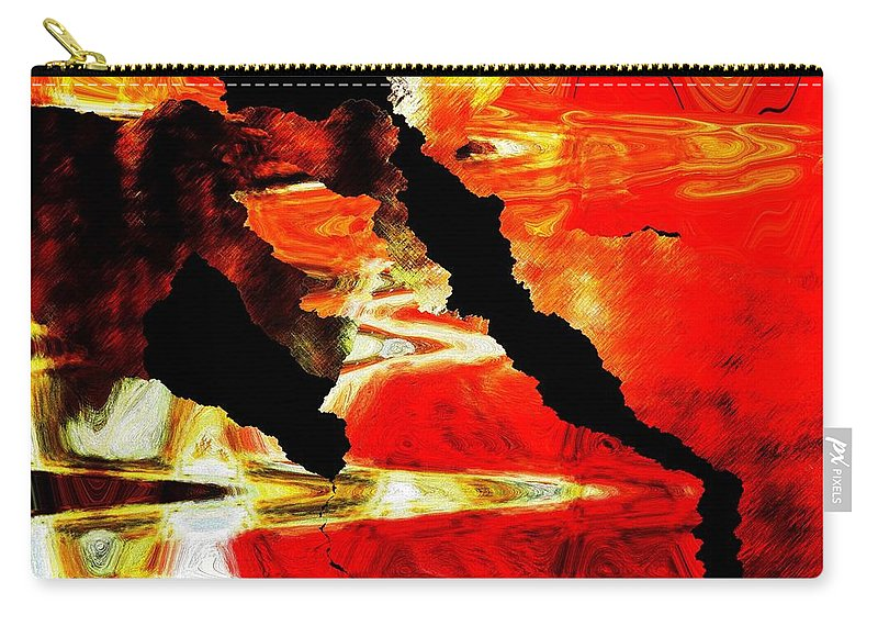 Digital Carry-all Pouch featuring the digital art Canyon by Lizi Beard-Ward