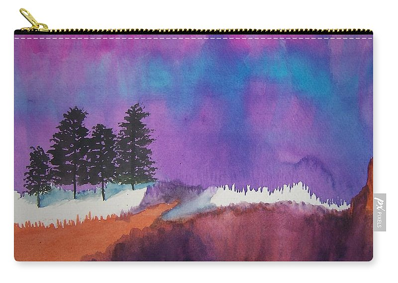 Canyon Carry-all Pouch featuring the painting Canyon Shadows by B Kathleen Fannin