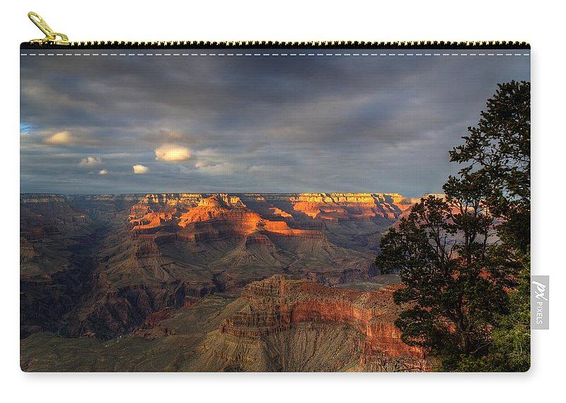 Grand Canyon Carry-all Pouch featuring the photograph Canyon Sunset by Dave Files