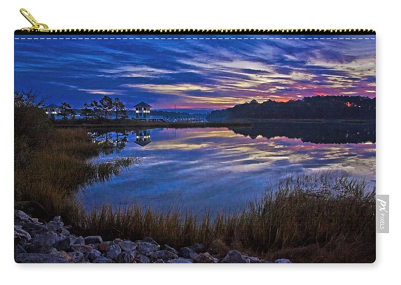 Cape Charles Carry-all Pouch featuring the photograph Cape Charles Sunrise by Suzanne Stout