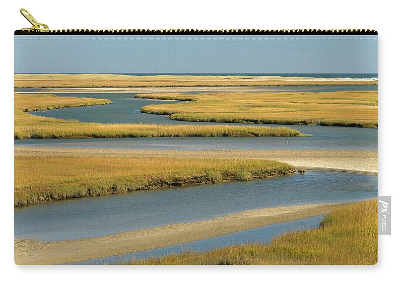 Grass Carry-all Pouch featuring the photograph Cape Cod Wetlands by Frankvandenbergh
