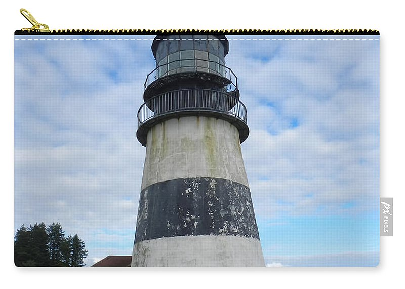 Carry-all Pouch featuring the photograph Cape Disappointment Lighthouse 3 by Cathy Anderson