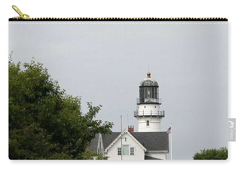 Cape Elizabeth Light Carry-all Pouch featuring the photograph Cape Elizabeth Light I by Christiane Schulze Art And Photography