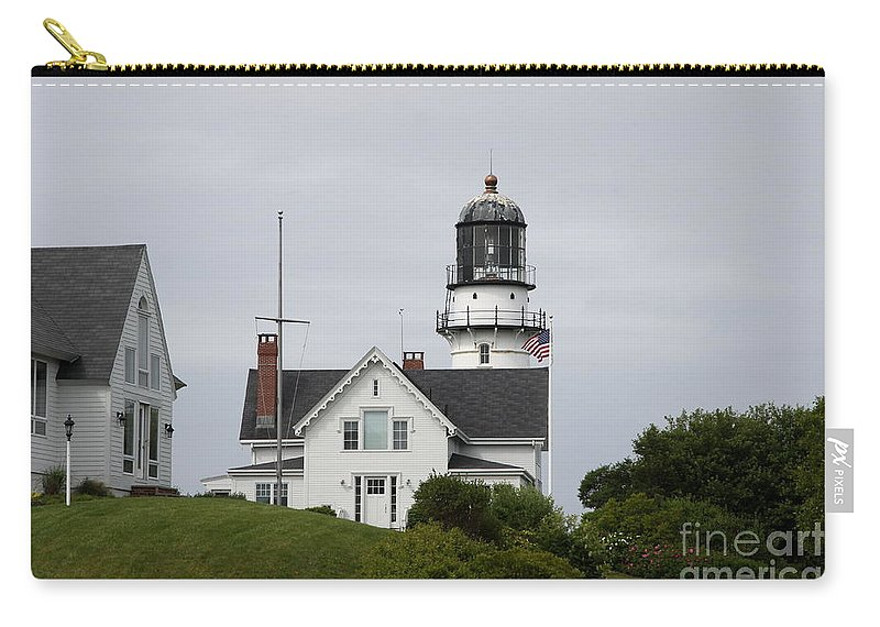 Cape Elizabeth Light Carry-all Pouch featuring the photograph Cape Elizabeth Light II by Christiane Schulze Art And Photography