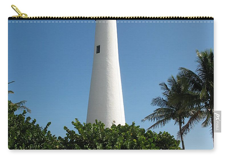 Lighthouse Carry-all Pouch featuring the photograph Cape Florida Lightstation by Christiane Schulze Art And Photography