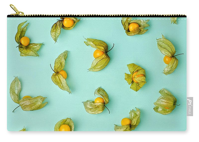 Winter Cherry Carry-all Pouch featuring the photograph Cape Gooseberries Physalis, Winter by Juj Winn