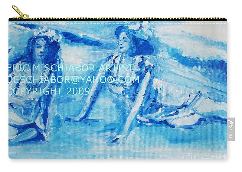 Bathing Carry-all Pouch featuring the painting Cape May Bathing Beauty by Eric Schiabor