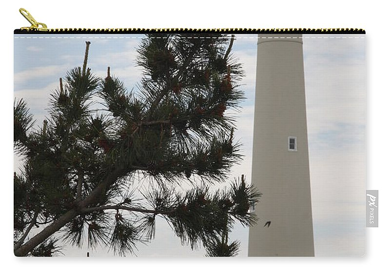 Lighthouse Carry-all Pouch featuring the photograph Cape May Lighthouse by Christiane Schulze Art And Photography