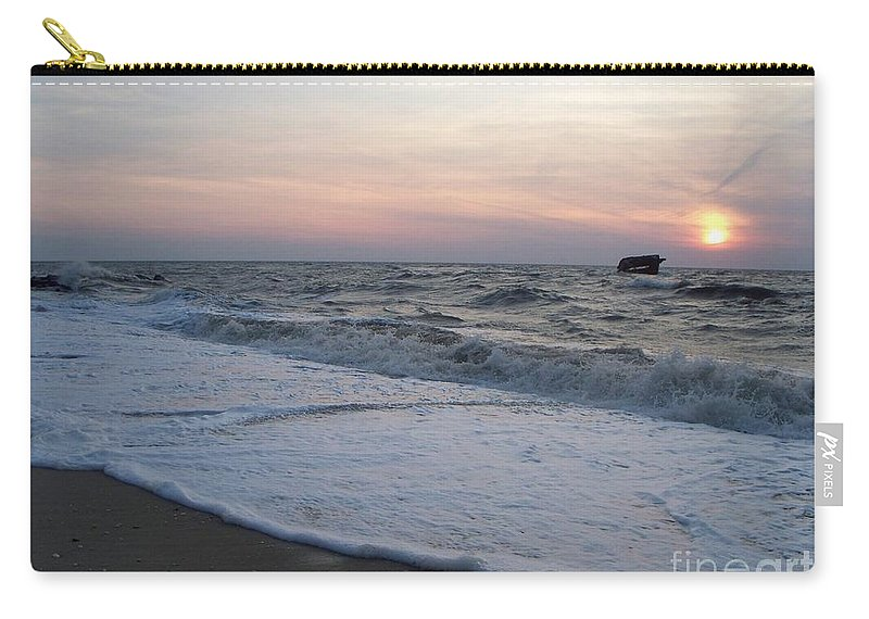 Cape May Carry-all Pouch featuring the photograph Cape May Sunset Beach Nj by Eric Schiabor
