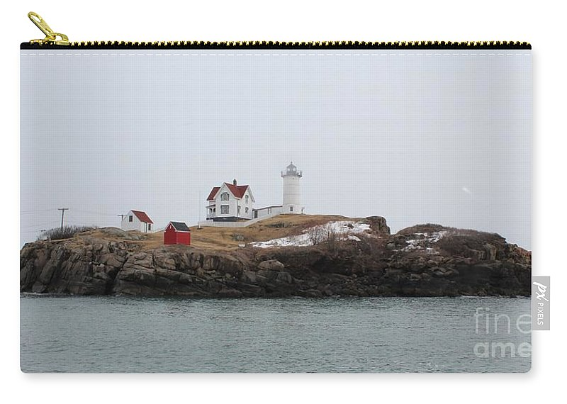 Lighthouse Carry-all Pouch featuring the photograph Cape Neddick - Nubble Light 2 by Joseph Marquis