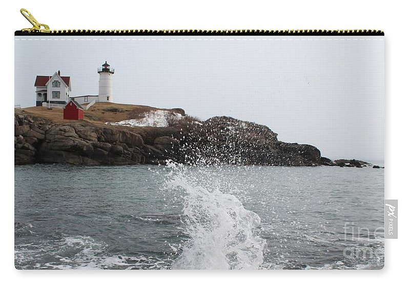 Lighthouse Carry-all Pouch featuring the photograph Cape Neddick - Nubble Light 4 by Joseph Marquis