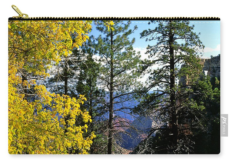 Angel Arch Carry-all Pouch featuring the photograph Cape Royal Grand Canyon by Ed Riche
