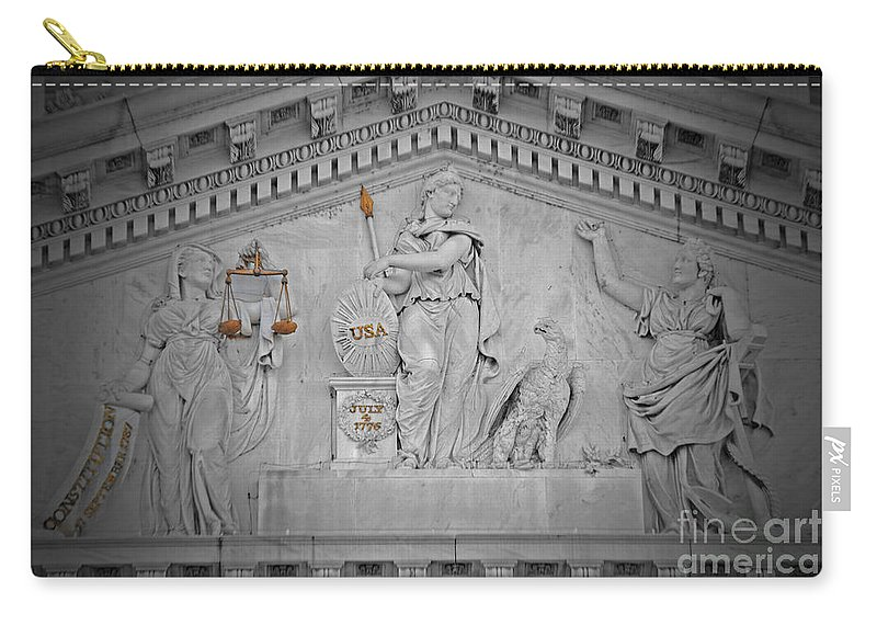 Government Carry-all Pouch featuring the photograph Capitol Government by Jost Houk