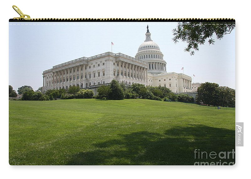 Capitol Carry-all Pouch featuring the photograph Capitol Hill View Washington Dc by Christiane Schulze Art And Photography