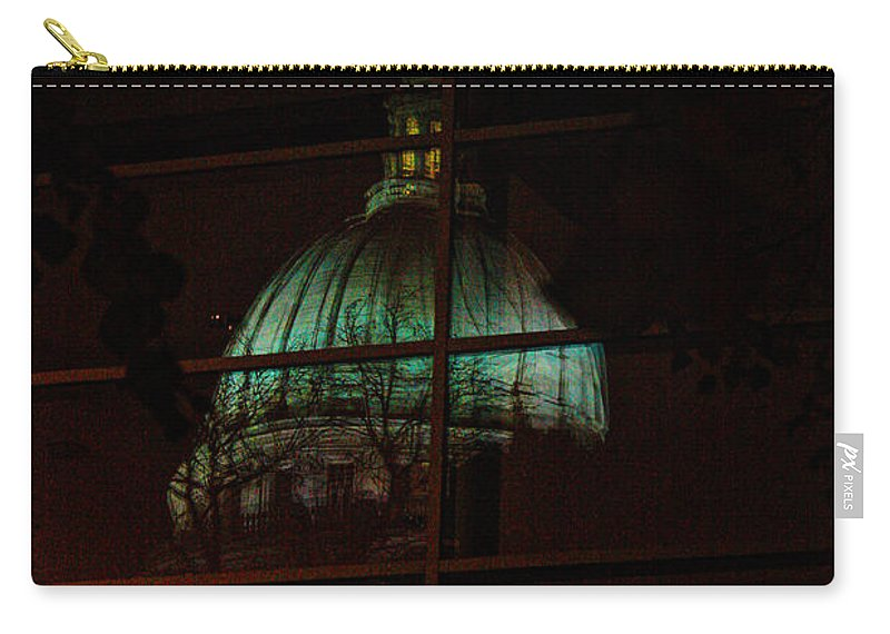 Madison. Wisconsin Carry-all Pouch featuring the photograph Capitol Reflections by Tommy Anderson
