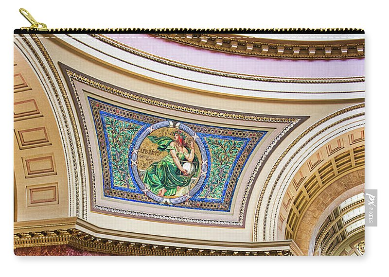 Capitol Carry-all Pouch featuring the photograph Capitol - Madison - Wisconsin by Steven Ralser