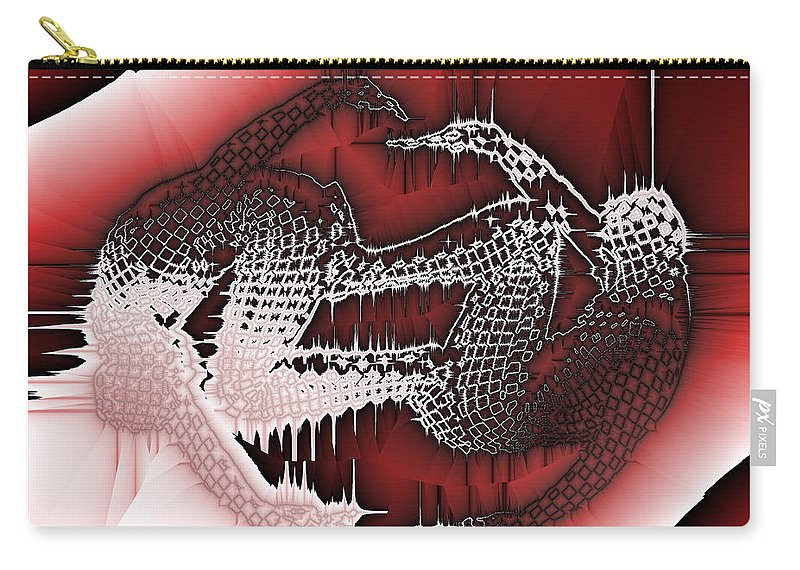 Abstract Carry-all Pouch featuring the digital art Capoeira 9 by Jack Bowman