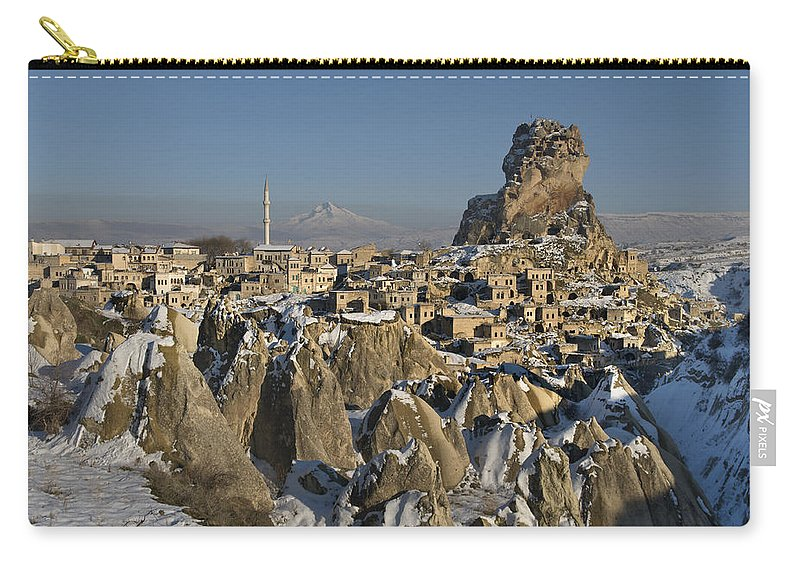 Cappadocia Carry-all Pouch featuring the photograph Cappadocia In Winter by Ayhan Altun
