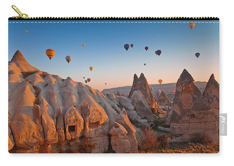 Wind Carry-all Pouch featuring the photograph Cappadocia, Turkey by Benstevens
