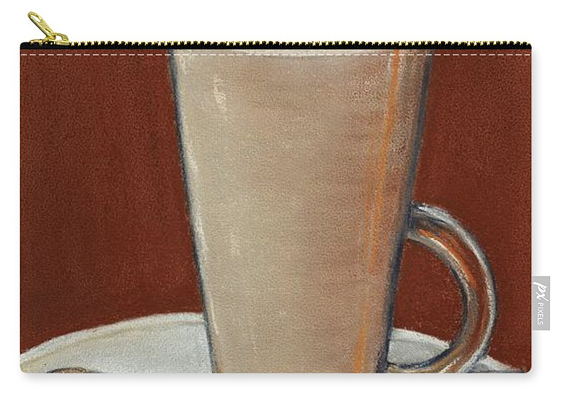 Carry-all Pouch featuring the digital art Cappuccino by Anastasiya Malakhova