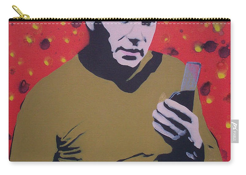 Star Trek Carry-all Pouch featuring the painting Captain Kirk by Gary Hogben