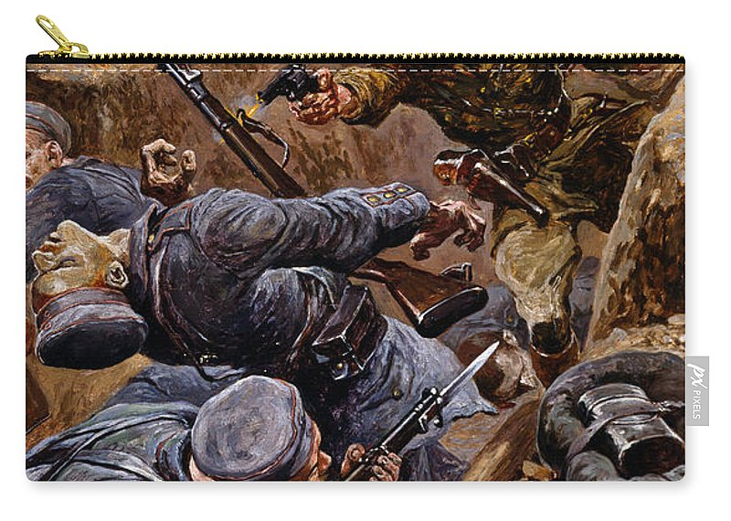 Male Carry-all Pouch featuring the painting Captain Reginald James Young Winning by Stanley L. Wood