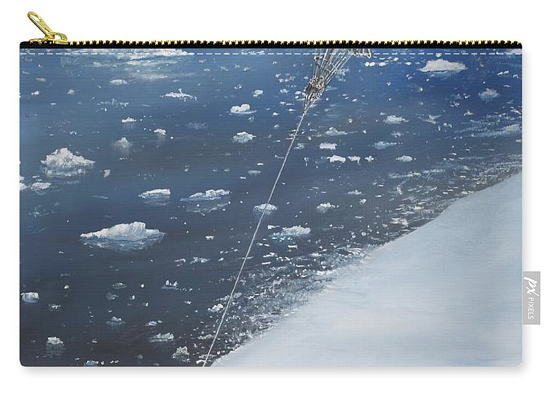 Scott Carry-all Pouch featuring the painting Captain Scott Antarcticas First Aeronaut by Vincent Alexander Booth