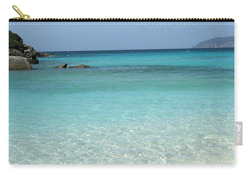 Caribbean Carry-all Pouch featuring the photograph Caribbean Celeste Fresh by Sharon McLain