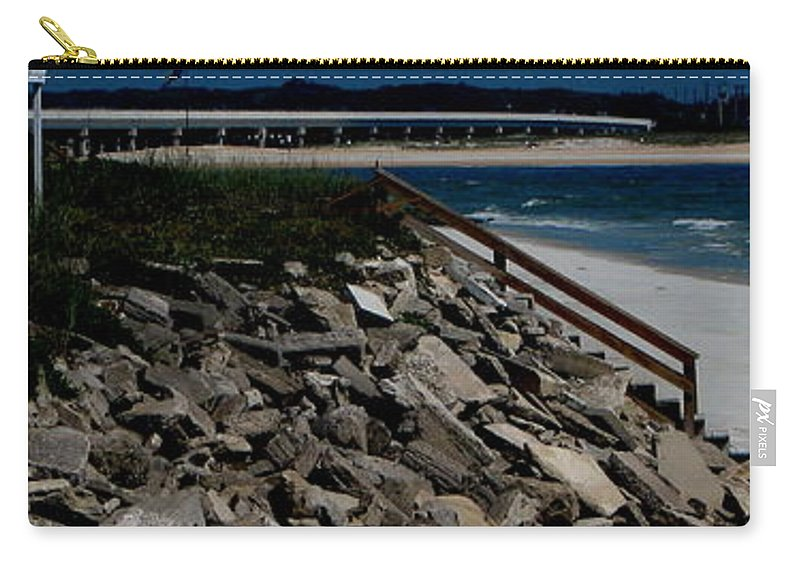 Beach Front Carry-all Pouch featuring the photograph Caribbean Colors by Greg Patzer