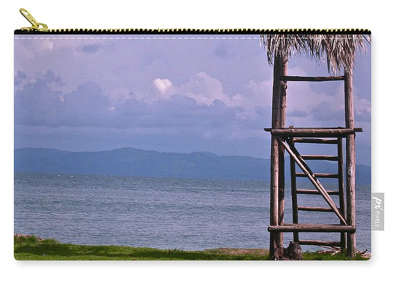 Caribbean Carry-all Pouch featuring the photograph Caribbean Lifeguard by Lexi Heft