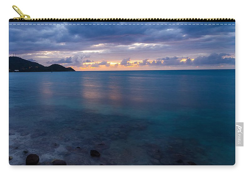 Calm Carry-all Pouch featuring the photograph Caribbean Sunset by Jess Kraft