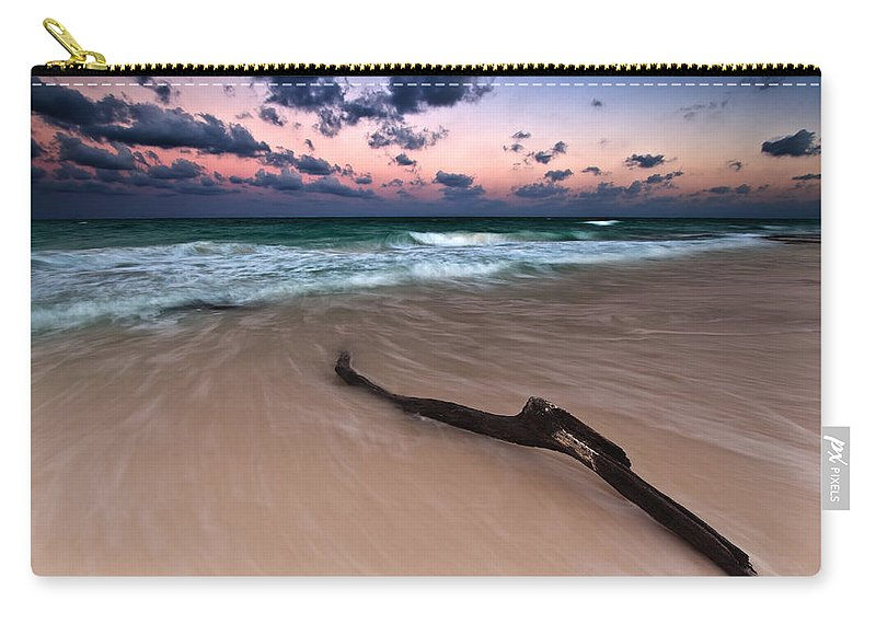 Sunset Carry-all Pouch featuring the photograph Caribbean Sunset by Mihai Andritoiu