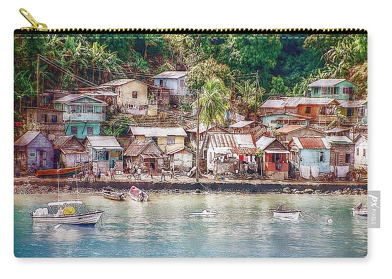Karibik Carry-all Pouch featuring the photograph Caribbean Village by Hanny Heim