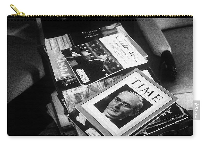 Fine Art Carry-all Pouch featuring the photograph Carl Sandburg's Magazines by Rodney Lee Williams