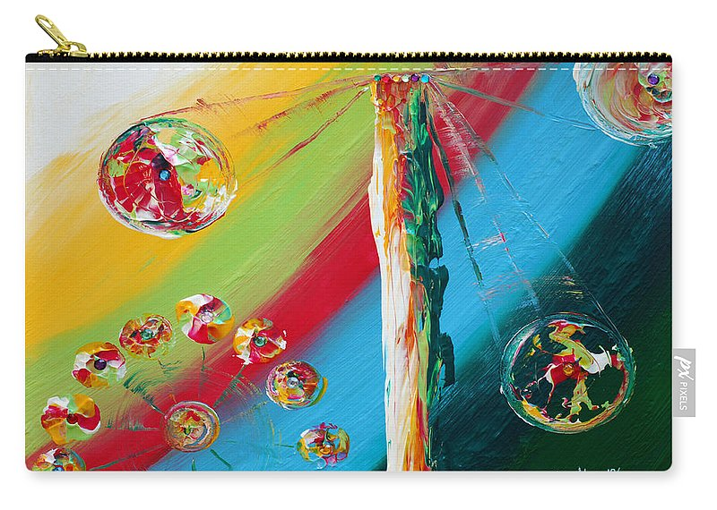Carnival Carry-all Pouch featuring the mixed media Carnival by Donna Blackhall