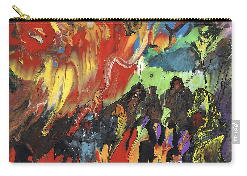 Travel Carry-all Pouch featuring the painting Carnival In Spain by Miki De Goodaboom