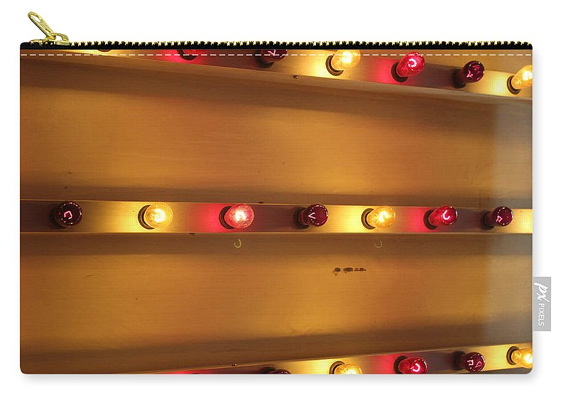 Light Carry-all Pouch featuring the photograph Carnival Lights 1 by Mary Bedy