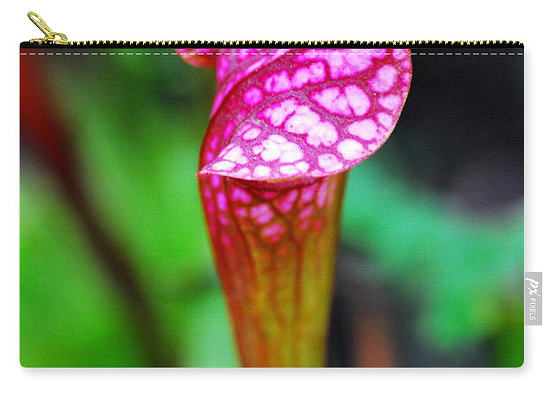 Carnivorous Carry-all Pouch featuring the photograph Carnivorous Plant I by Nancy Mueller
