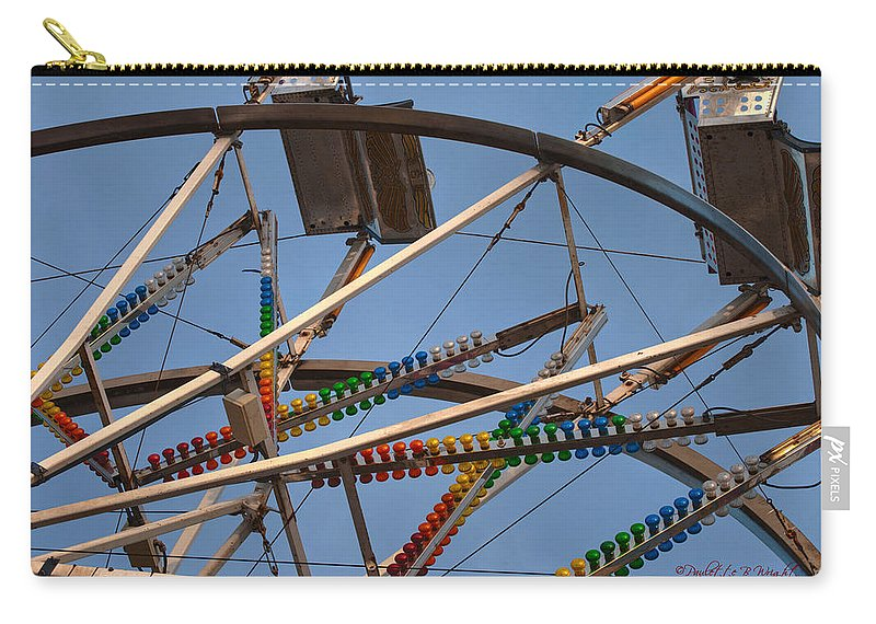 Interior Design Carry-all Pouch featuring the photograph Carny Ride by Paulette B Wright
